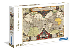 Clemetoni puslespel 6000b Antique Nautical Map 6000 bitar - Clementoni