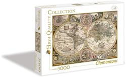 Clementoni puslespel 3000b Old Map 3000 brikkar - Clementoni