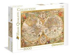 Clementoni puslespel 2000b Ancient Map 2000 bitar - Clementoni