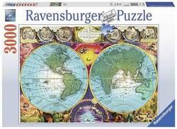Ravensburger puslespel 3000b Antique Map 3000 bitar - Ravensburger