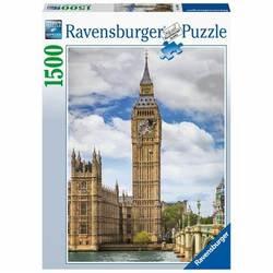 Ravensburger puslespel 1500b Funny cat on Big Ben 1500 bitar - Ravensburger