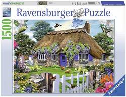 Ravensburger puslespel 1500b Cottage in England 1500 bitar - Ravensburger