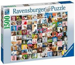 Ravensburger puslespill 1500b 99 Cats 1500 bitar - Ravensburger
