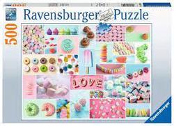 Ravensburger Puslespel 500b Sweet Temptation 500 bitar - Ravensburger