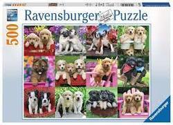 Ravensburger Puslespel 500b Puppy Pals 500 bitar - Ravensburger