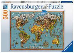 Ravensburger Puslespel 500b World of Butterflies 500 bitar - Ravensburger