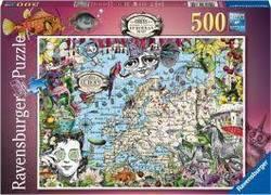 Ravensburger Puslespel 500b European Map, Quirky Circus 500 bitar - Ravensburger
