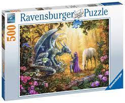 Ravensburger Puslespel 500b Dragon Whisperer 500 bitar - Ravensburger