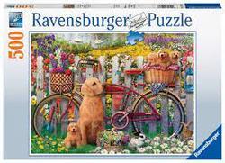 Ravensburger Puslespel 500b Cute Dogs in the Garden 500 bitar - Ravensburger