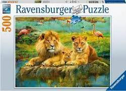 Ravensburger Puslespel 500b Lions in the Savannah 500 bitar - Ravensburger