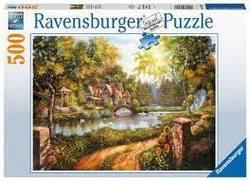 Ravensburger Puslespel 500b Cottage by the River 500 bitar - Ravensburger