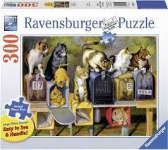 Ravensburger Puslespel 300b XL Cat's got Mail 300 bitar XL - Ravensburger