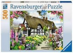 Ravensburger Puslespel 500b Thatched Cottage 500 bitar - Ravensburger