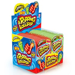 Johnybee Popping & Lollipop Jordbær - Godteri