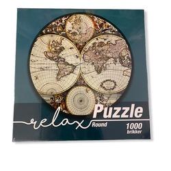 Relax World Map 1000b Rundt 1000 bitar - 1conzept