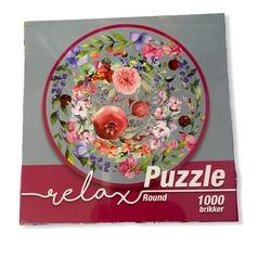 Relax Flowers in Watercolor 1000b Rundt 1000 bitar - 1conzept