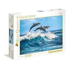 Clementoni Puslespel 500b Dolphins 500 bitar - Clementoni