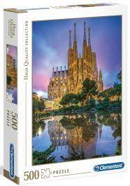 Clementoni Puslespel 500b Sagrada Familia 500 bitar - Clementoni