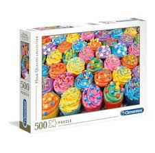 Clementoni Puslespel 500b Colorful Cupcakes 500 bitar - Clementoni