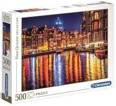 Clementoni Puslespel 500b Amsterdam 500 bitar - Clementoni