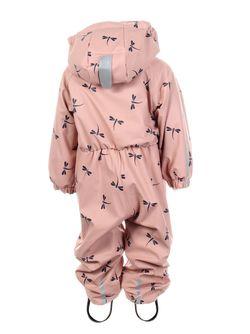 Kattnakken regndress baby insekt Misty pink - Kattnakken