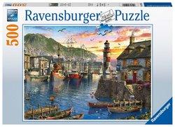 Ravensburger puslespel 500biter Sunrise at the Harbour 500 bitar - Ravensburger
