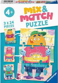 Ravensburger 3x24 Mix and Match Puzzle Mix-Up Monsters - Ravensburger