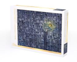Lisa Aisato puslespel 1000b Jenta som ville redde bøkene 31  1000 bitar - Lisa Aisato