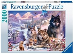 Ravensburger puslespel 2000b, Ulver i snøen 2000 bitar - Ravensburger