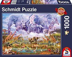 Schmidt puslespel 1000 Animals at the waterhole  1000 bitar - Schmidt