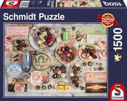 Schmidt puslespel 1500 Nostalgic Chocolate  1500 bitar - Schmidt
