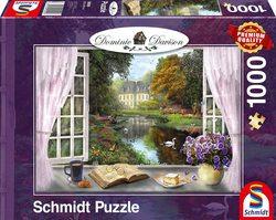 Schmidt puslespel 1000 wiew of the castle gardens  1000 bitar - Schmidt