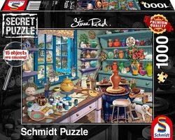 Schmidt puslespel 1000 secret Artist Studio  1000 bitar - Schmidt