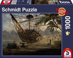 Schmidt puslespel 1000 Ship at Ancor  1000 bitar - Schmidt