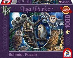 Schmidt puslespel 1000 Mysterious Owls  1000 bitar - Schmidt