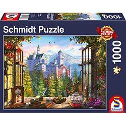 Schmidt puslespel 1000 Wiew of the fairytale castle  1000 bitar - Schmidt