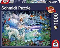 Schmidt puslespel 1000 Wolves in a winter forest  1000 bitar - Schmidt