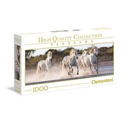 Clementoni puslespel 1000 panorama Running horses 1000 bitar - Clementoni