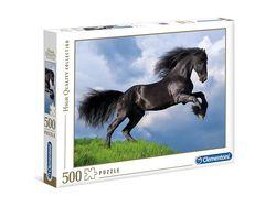 Puslespel Clementoni 500 Fresian Black Horse 500 bitar - Clementoni