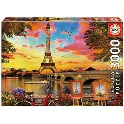 Educa puslespel 3000 Sunset in Paris 3000 bitar - Educa