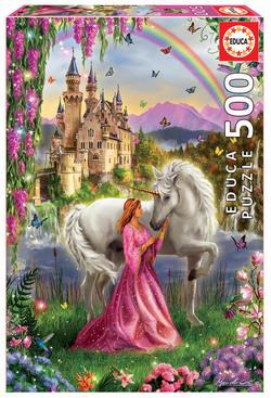 Educa puslespel 500 Fairy and Unicorn 500 bitar - Educa