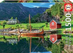 Educa puslespel 1500 Viking Ship 1500 bitar - Educa