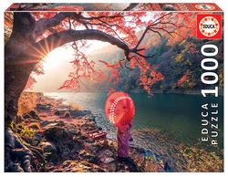 Educa puslespel 1000 Sunrise in Katsura River, Japan 1000 bitar - Educa