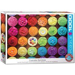 Eurographics puslespel 1000 Cupcake Rainbow 1000 bitar - Eurographics