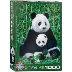 Eurographics puslespel 1000  Panda & Baby 1000 bitar - Eurographics