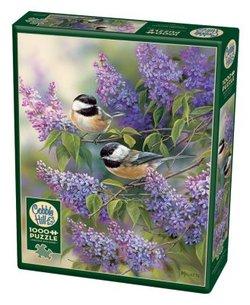 Cobble Hill puslespel 1000 Chikadees & Lilacs 1000 bitar - Cobble Hill