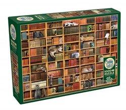 Cobble Hill puslespel 1000 The Cat library 1000 bitar - Cobble Hill