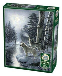 Cobble Hill puslespel 1000 Wolves by moonlight 1000 bitar - Cobble Hill