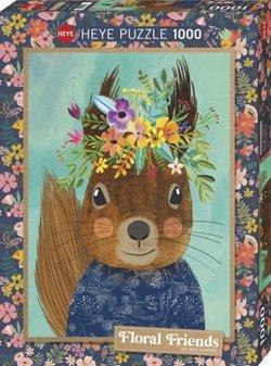 Heye puslespel 1000 art floral friends sweet squirrel 1000 bitar - Heye