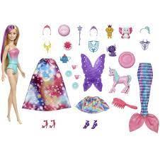 Barbie Dreamtopia Adventskalender med Dukke Barbie - Adventskalender